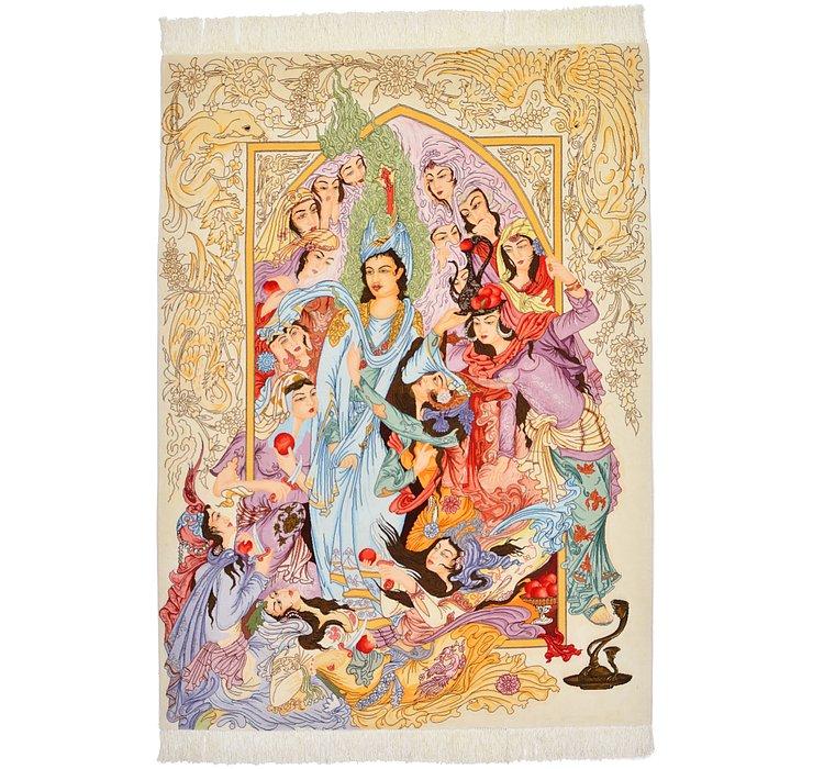4' 11 x 6' 9 Tabriz Persian Rug