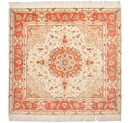 Link to 6' 6 x 6' 9 Tabriz Persian Square Rug