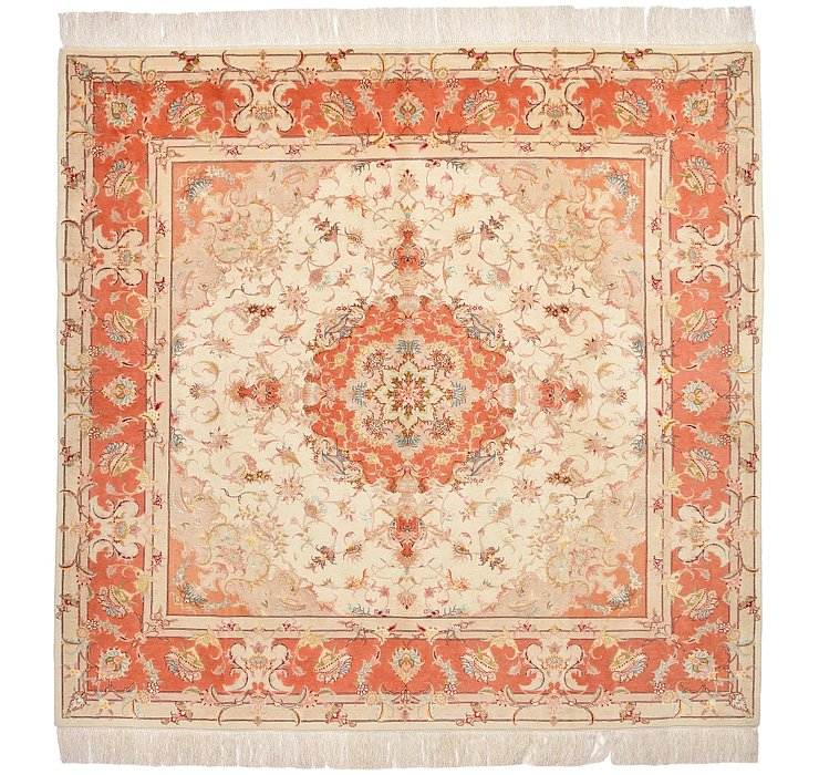 6' 6 x 6' 9 Tabriz Persian Square Rug