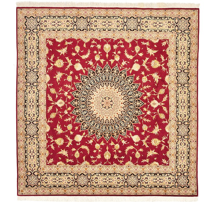 203cm x 205cm Tabriz Persian Square Rug