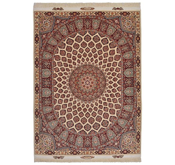 4' 11 x 6' 8 Tabriz Persian Rug