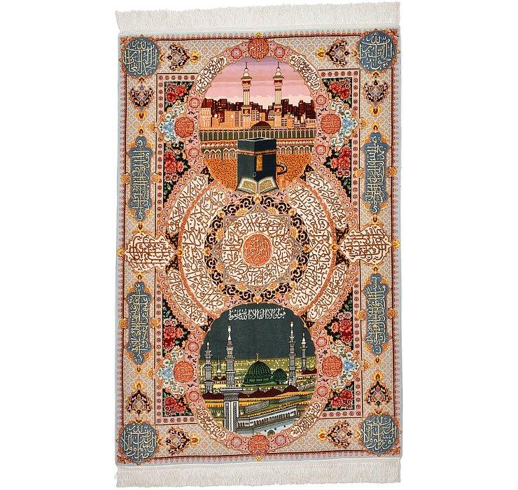 3' 5 x 5' 2 Tabriz Persian Rug
