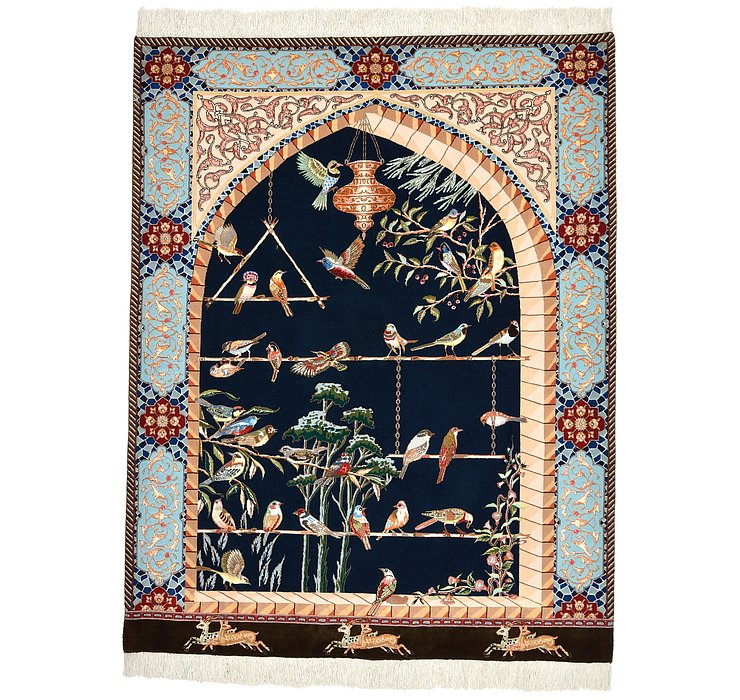 152cm x 195cm Tabriz Persian Rug