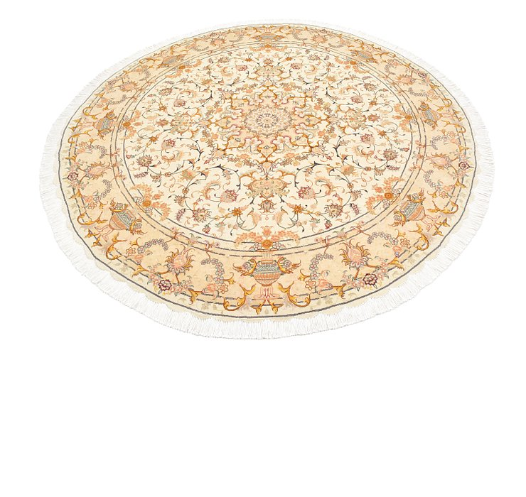 HandKnotted 6' 7 x 6' 7 Tabriz Persian Round Rug