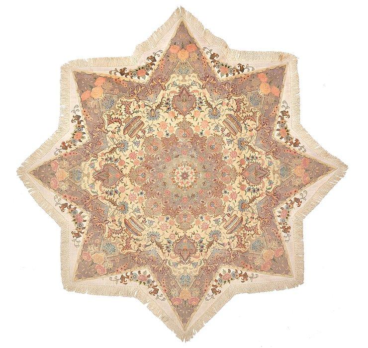 6' 7 x 6' 7 Tabriz Persian Octagon ...