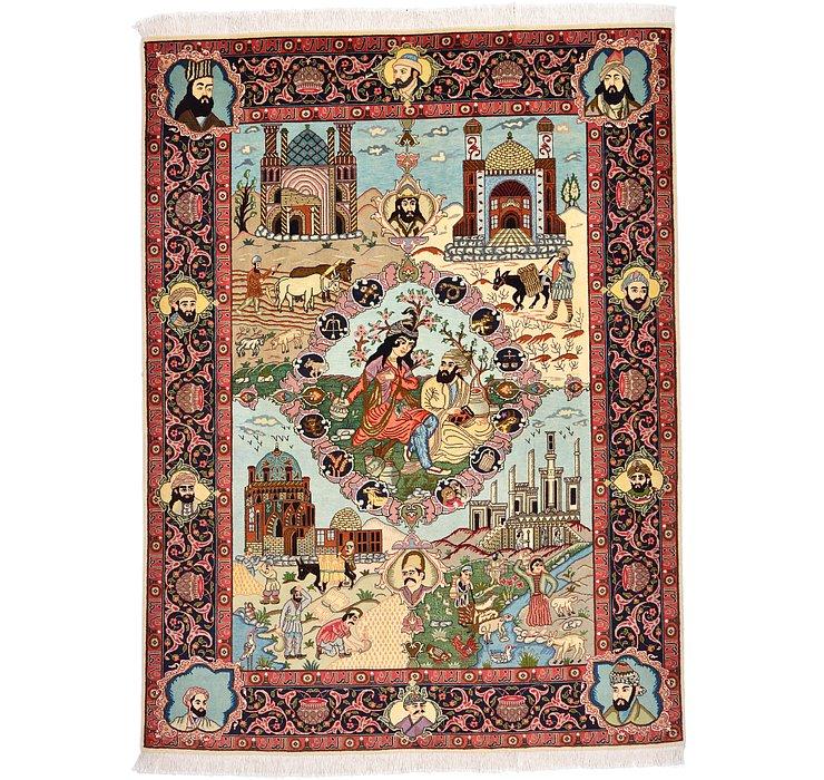 5' x 6' 8 Tabriz Persian Rug