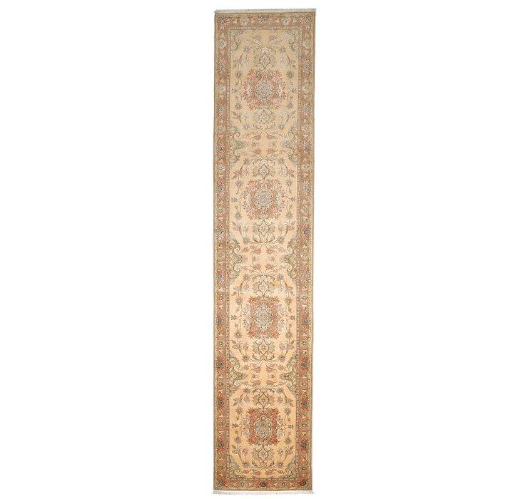 2' 11 x 14' Tabriz Persian Runner Rug