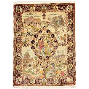 HandKnotted 4' 11 x 6' 7 Tabriz Persian Rug