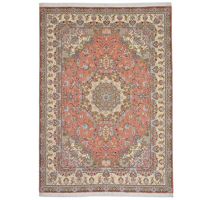 4' 11 x 6' 10 Tabriz Persian Rug