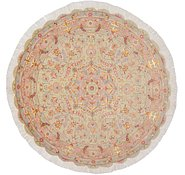 Link to 4' 10 x 4' 10 Tabriz Persian Round Rug