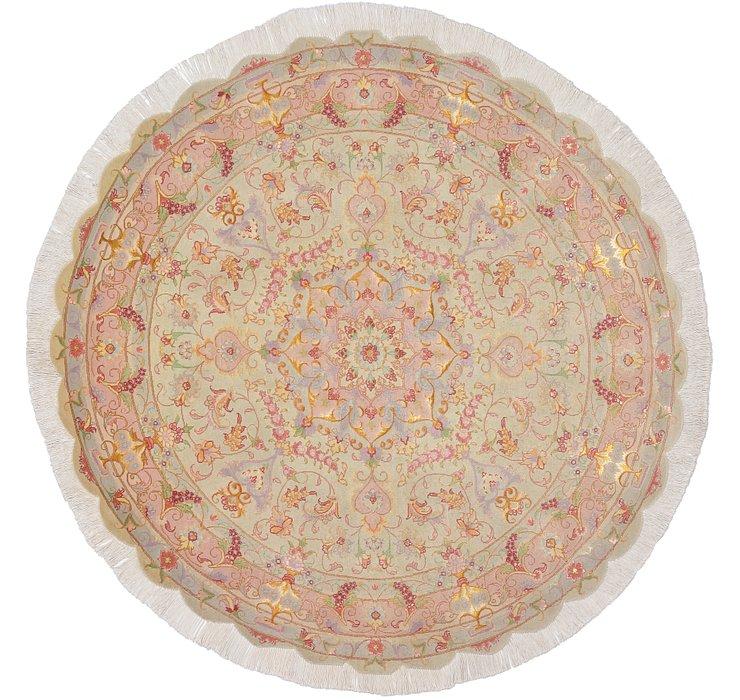 4' 10 x 4' 10 Tabriz Persian Round Rug