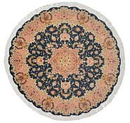 Link to 4' 11 x 4' 11 Tabriz Persian Round Rug