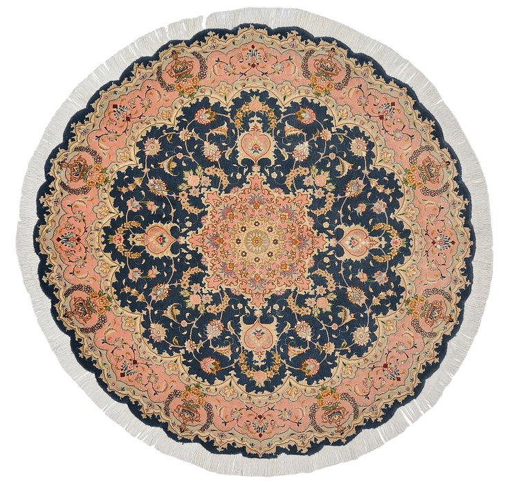 4' 11 x 4' 11 Tabriz Persian Round Rug