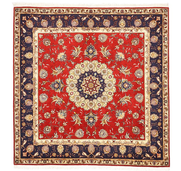 5' x 5' Tabriz Persian Square Rug
