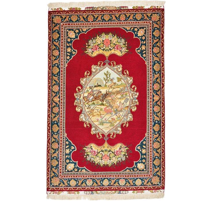 3' 4 x 5' 1 Tabriz Persian Rug