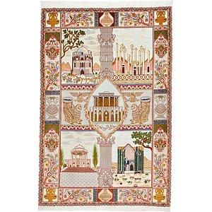 HandKnotted 3' 5 x 5' 1 Tabriz Persian Rug