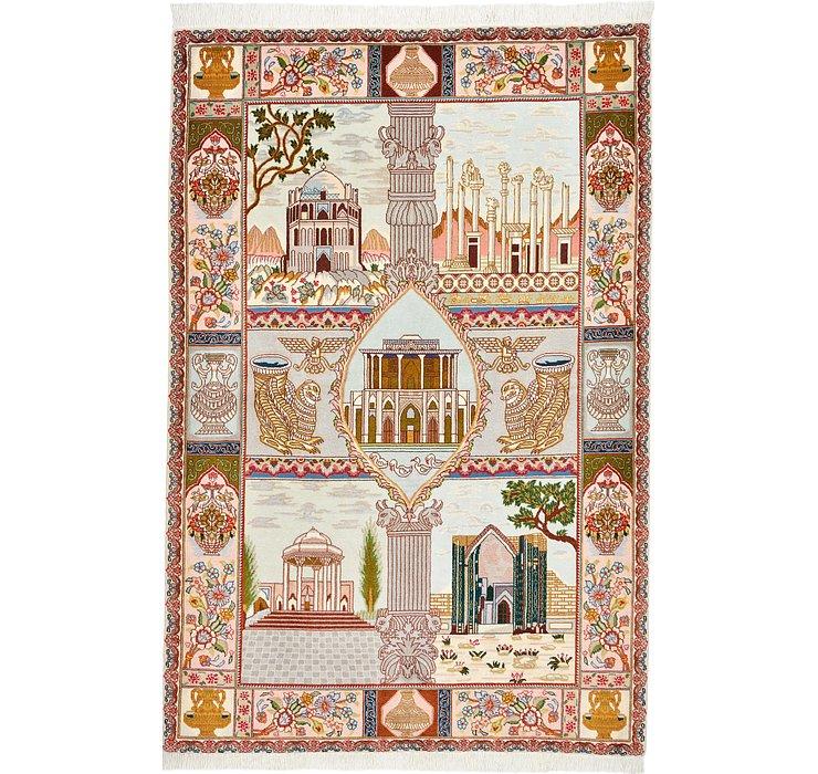 3' 5 x 5' 1 Tabriz Persian Rug