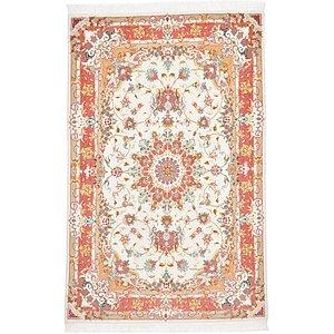 Unique Loom 3' 3 x 5' 1 Tabriz Persian Rug