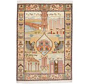 Link to 3' 5 x 4' 10 Tabriz Persian Rug