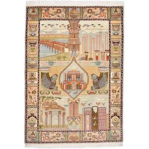 HandKnotted 3' 5 x 4' 10 Tabriz Persian Rug