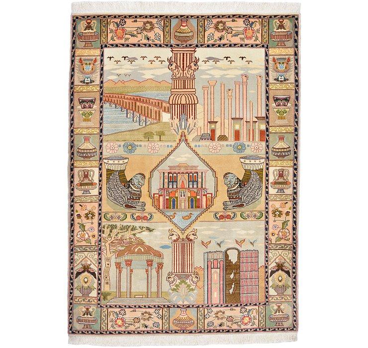 3' 5 x 4' 10 Tabriz Persian Rug