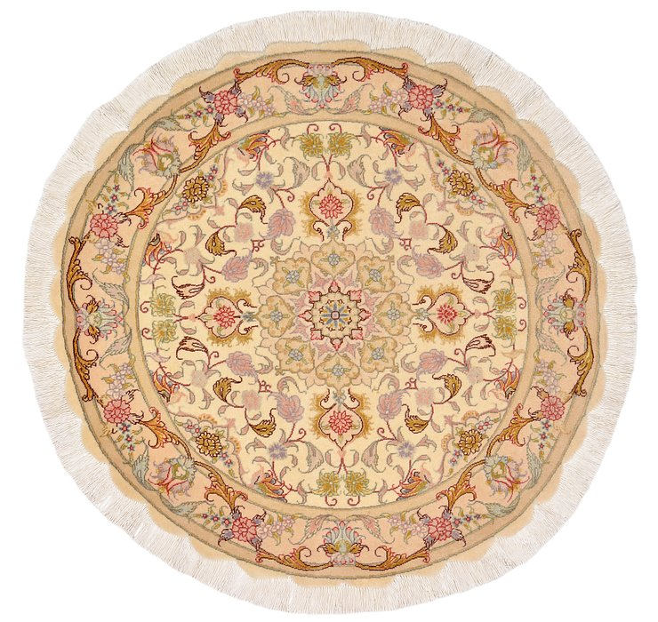 HandKnotted 3' 2 x 3' 2 Tabriz Persian Round Rug