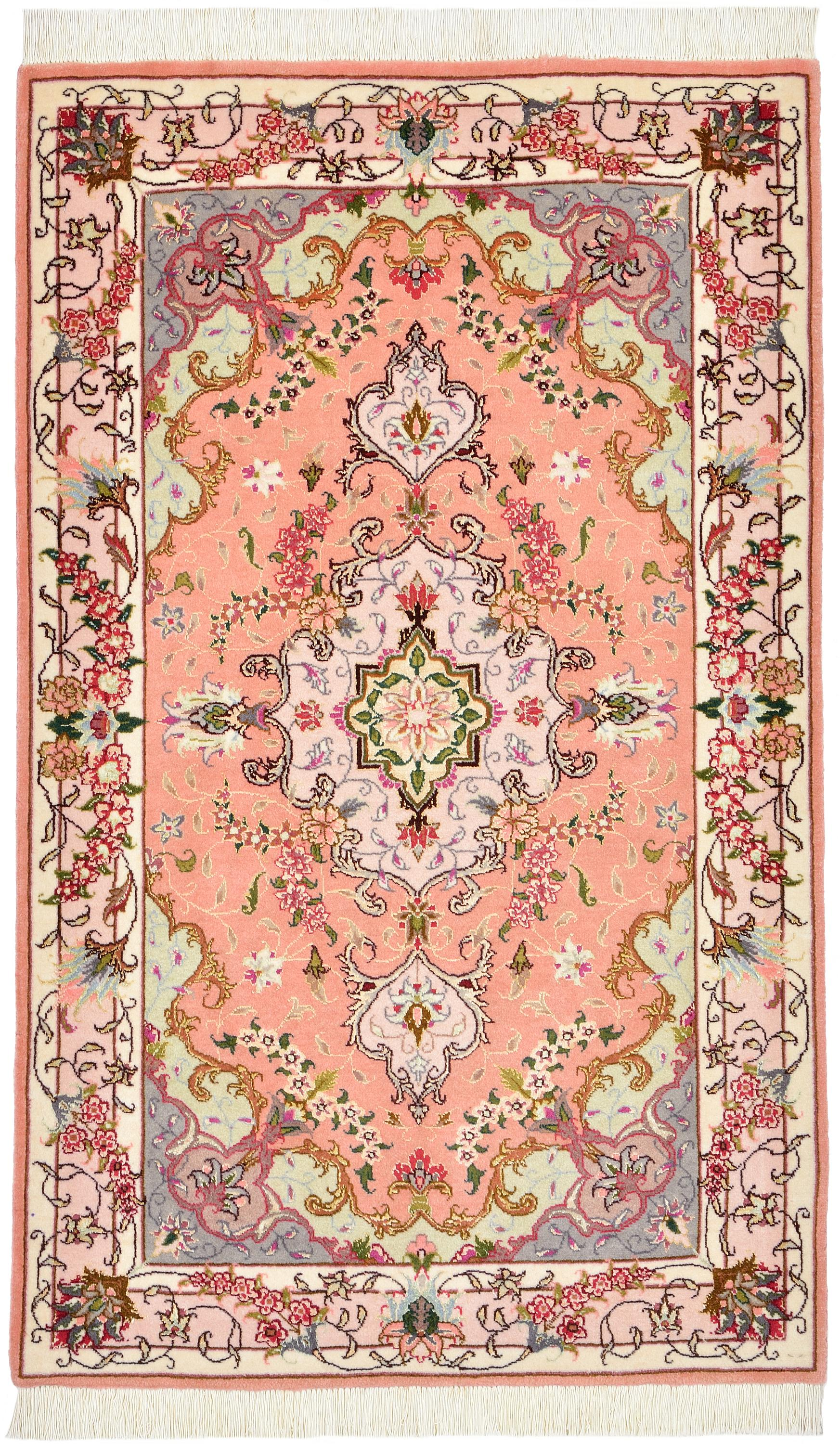 Coral 2 5 X 3 11 Tabriz Persian Rug Handknotted Com