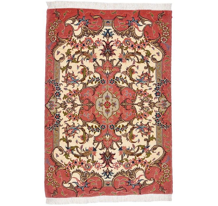 2' x 2' 11 Tabriz Persian Rug