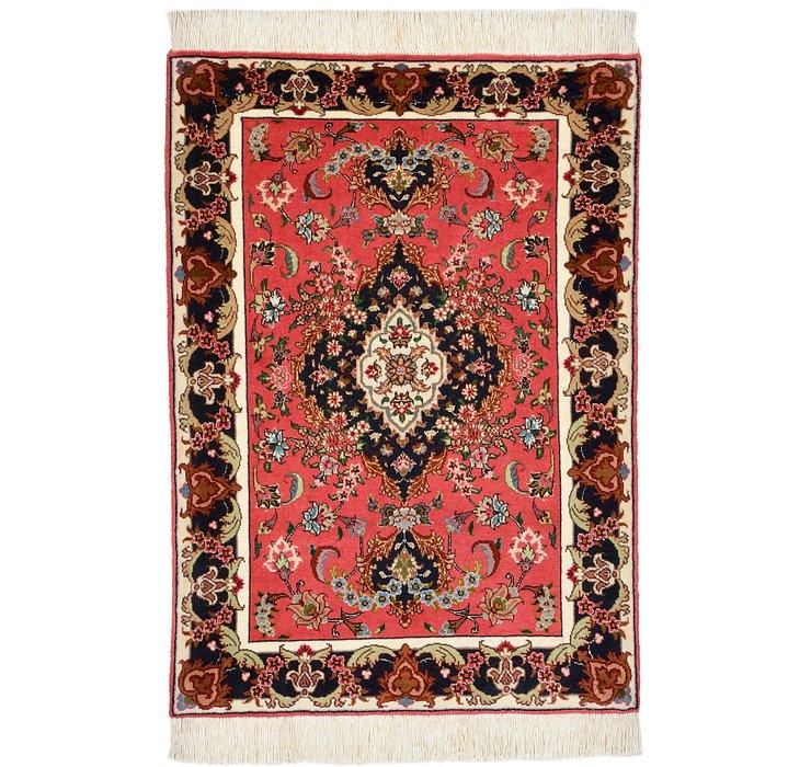 2' x 2' 9 Tabriz Persian Rug