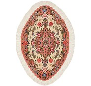 Link to 1' 7 x 2' 5 Tabriz Persian Oval Rug