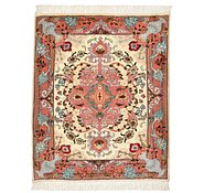 Link to 2' 1 x 2' 6 Tabriz Persian Square Rug