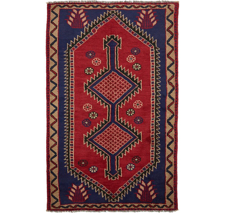 4' 7 x 7' 9 Shiraz Persian Rug