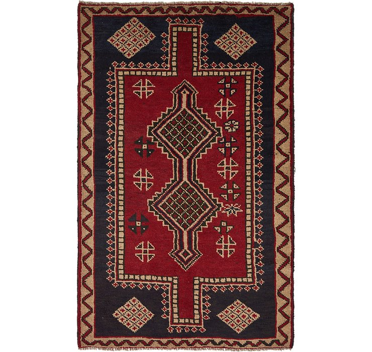 5' x 7' 10 Shiraz Persian Rug