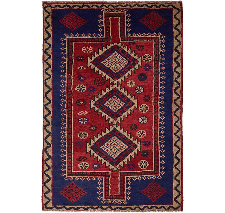 5' x 7' 4 Shiraz Persian Rug