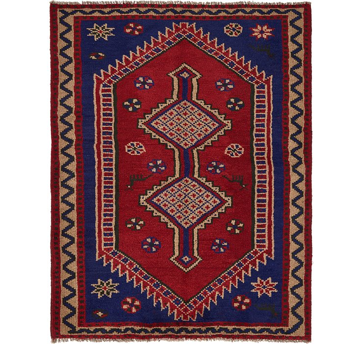 5' x 6' 6 Shiraz Persian Rug