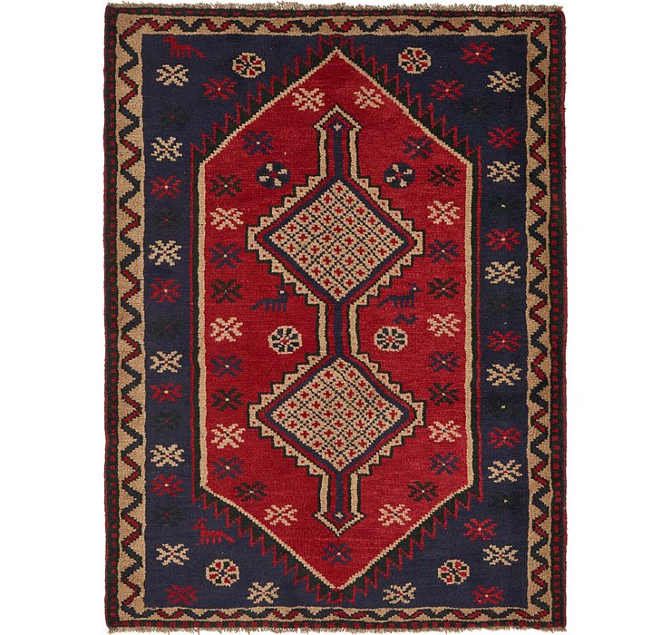 4' 8 x 6' 4 Shiraz Persian Rug