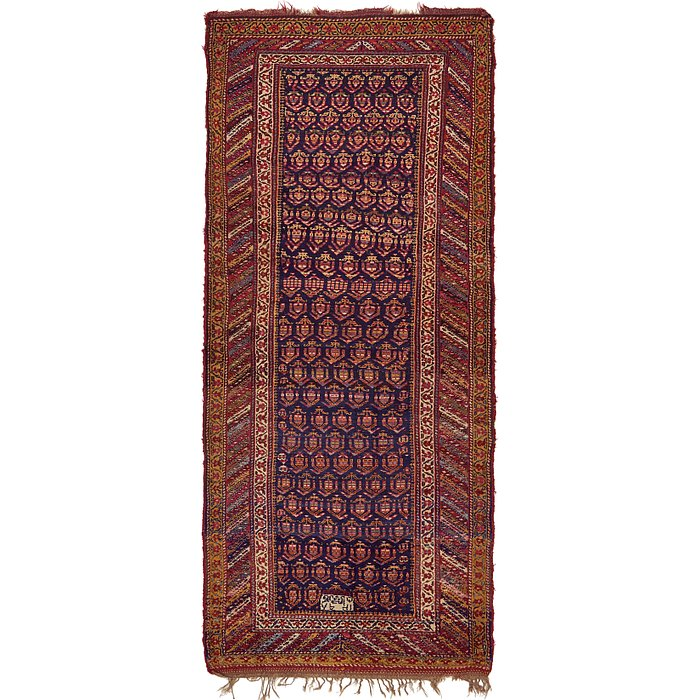 5' x 11' 4 Shiraz Persian Runner Rug