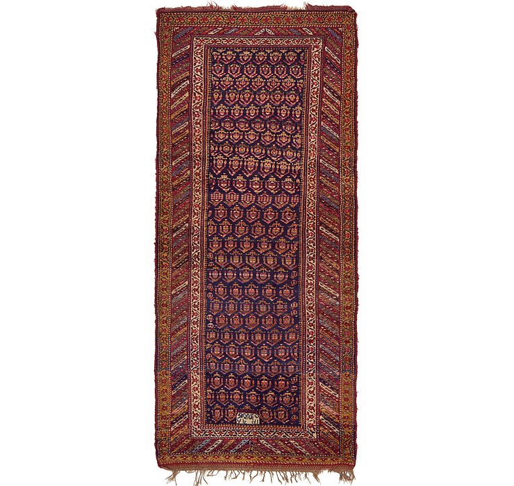 5' x 11' 4 Shiraz Persian Runner Rug