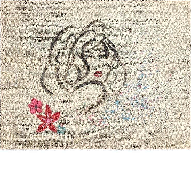 90cm x 117cm Ultra Vintage Persian S...