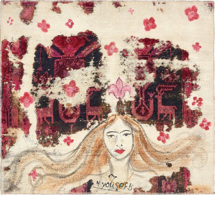 115cm x 127cm Ultra Vintage Persian S...