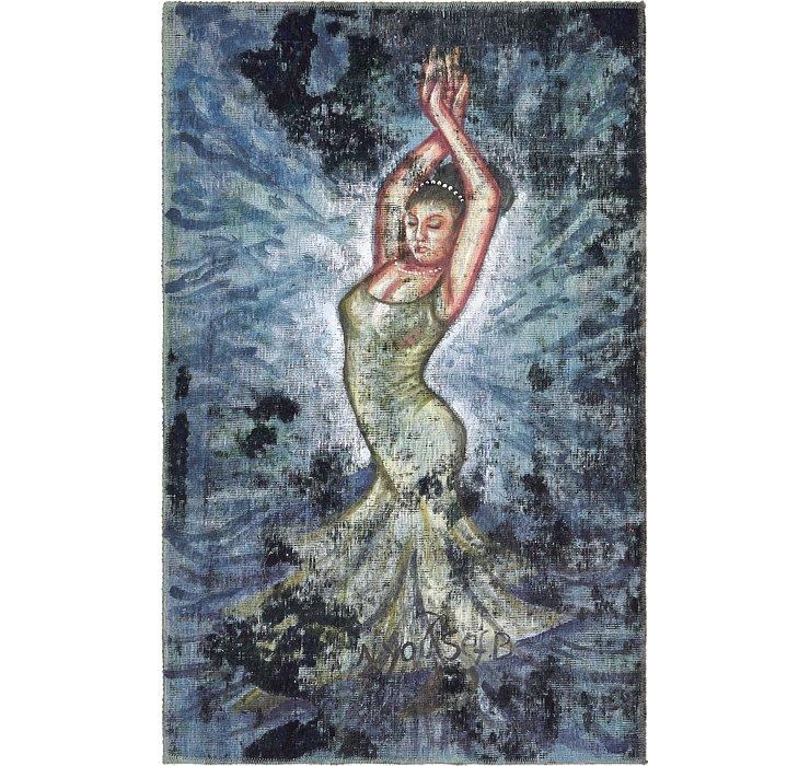 100cm x 157cm Ultra Vintage Persian Rug