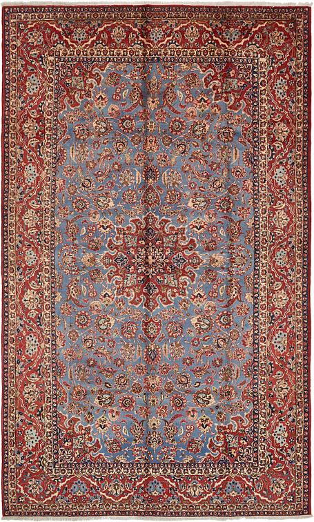 Light Blue 10 X 16 10 Isfahan Persian Rug Persian Rugs