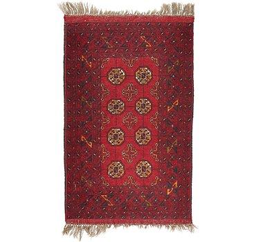 79x130 Afghan Akhche Rug