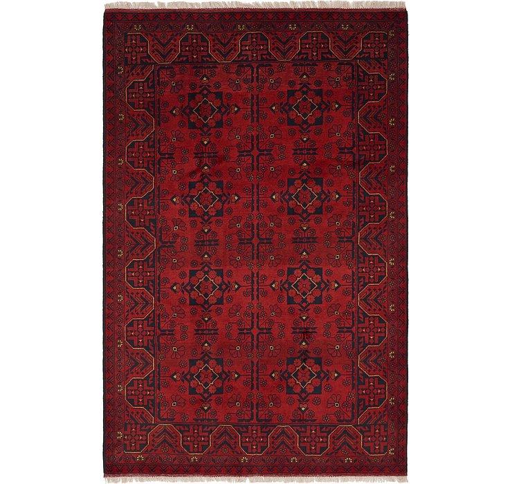 HandKnotted 4' 2 x 6' 6 Khal Mohammadi Oriental...