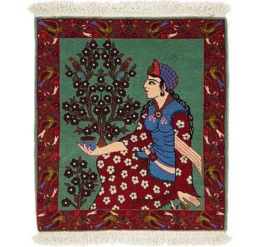 61x69 Isfahan Rug