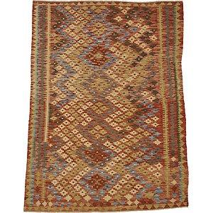 Unique Loom 5' x 6' 4 Kilim Maymana Rug
