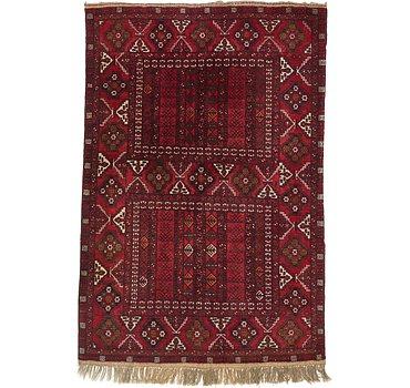157x231 Afghan Akhche Rug