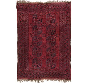 226x325 Afghan Akhche Rug
