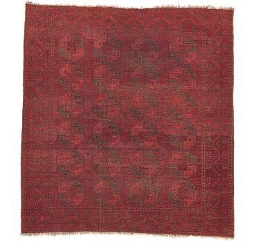 264x279 Afghan Akhche Rug