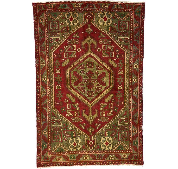 4' 4 x 6' 6 Zanjan Persian Rug